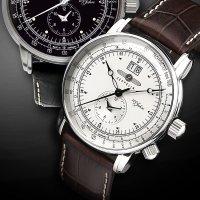 Zeppelin 7640-1 zegarek srebrny klasyczny 100 Years Zeppelin Ed 1 pasek
