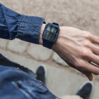 Zegarek niebieski retro Casio VINTAGE Oldschool CA-53WF-2BEF pasek - duże 7