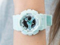 Zegarek niebieski sportowy Casio Baby-G BA-110PI-2AER pasek - duże 6