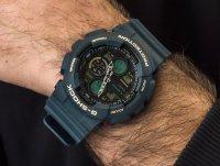 Zegarek niebieski sportowy Casio G-SHOCK Original GA-140-2AER pasek - duże 6