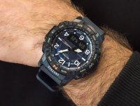 Zegarek niebieski sportowy Casio ProTrek PRT-B50-2ER pasek - duże 6