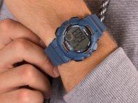 Zegarek niebieski sportowy Timex Mako DGTL TW5M23500 pasek - duże 6