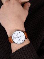 zegarek Obaku Denmark V190GDCWRZ kwarcowy męski Slim RISLEN - COGNAC