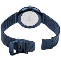 Obaku Denmark V230LXHLML zegarek niebieski klasyczny Slim bransoleta