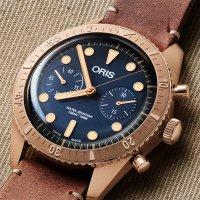 zegarek Oris 01 771 7744 3185-SET LS męski z chronograf Diving