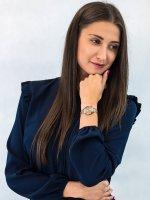 Zegarek różowe złoto elegancki Citizen Elegance EW2443-80X bransoleta - duże 4