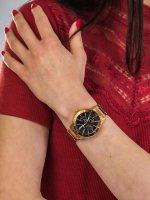 Zegarek różowe złoto elegancki Orient Classic FUX02001T0 bransoleta - duże 5