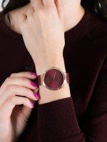 Zegarek różowe złoto fashion/modowy Bering Classic 14539-363 bransoleta - duże 5