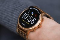 Fossil Smartwatch FTW6035 zegarek różowe złoto fashion/modowy Fossil Q bransoleta