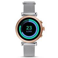 Fossil Smartwatch FTW6043 zegarek różowe złoto fashion/modowy Fossil Q bransoleta
