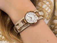 Zegarek różowe złoto fashion/modowy Fossil Georgia ES3934 pasek - duże 6