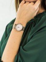 Zegarek różowe złoto fashion/modowy Fossil Neely ES4364 bransoleta - duże 5