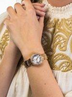 Zegarek różowe złoto fashion/modowy Fossil Virginia ES3284 bransoleta - duże 5