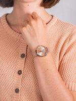 Zegarek różowe złoto fashion/modowy Michael Kors Portia MK3845 bransoleta - duże 5