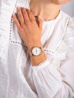 Zegarek różowe złoto fashion/modowy Timex Fairfield TW2R26400 bransoleta - duże 5