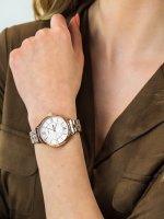 Zegarek różowe złoto fashion/modowy Timex Fashion TW2R28000 bransoleta - duże 5