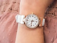 Zegarek różowe złoto klasyczny Caravelle Pasek 44L232 pasek - duże 6