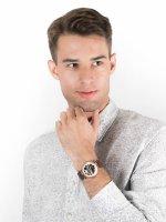 Zegarek różowe złoto klasyczny Carl von Zeyten Elzach CVZ0031RWH pasek - duże 4