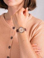 Zegarek różowe złoto klasyczny Casio Sheen SHE-4052PGL-4AUEF pasek - duże 5