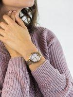 Zegarek różowe złoto klasyczny Citizen Ecodrive EM0503-75X bransoleta - duże 5