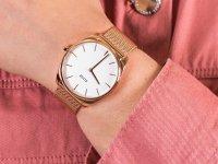 Zegarek różowe złoto klasyczny Cluse Feroce CW0101212002 bransoleta - duże 6