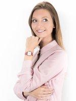 Zegarek różowe złoto klasyczny Cluse La Tetragone CL60020 pasek - duże 4