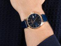 Zegarek różowe złoto klasyczny Delbana Como 43601.694.6.041 pasek - duże 6