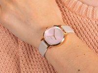 Zegarek różowe złoto klasyczny DKNY Pasek NY2740 pasek - duże 6
