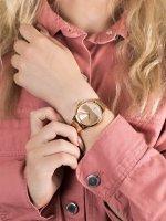 Zegarek różowe złoto klasyczny Esprit Damskie ES1L106M0085 bransoleta - duże 5