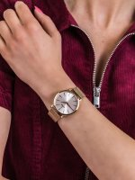 Zegarek różowe złoto klasyczny Festina Boyfriend F20477-1 bransoleta - duże 5