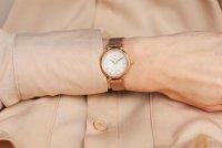 Zegarek różowe złoto klasyczny Fossil Carlie ES4836 bransoleta - duże 10
