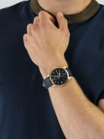 Zegarek różowe złoto klasyczny Fossil Townsman FS5436 pasek - duże 5