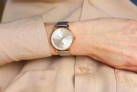 Zegarek różowe złoto klasyczny Meller Denka W3RP-2SILVER bransoleta - duże 12