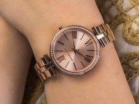 Zegarek różowe złoto klasyczny Michael Kors Maci MK3904 bransoleta - duże 6