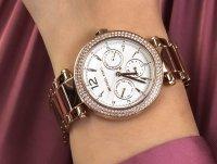 Zegarek różowe złoto klasyczny Michael Kors Parker MK5781 bransoleta - duże 6