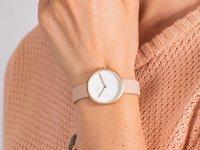 Zegarek różowe złoto klasyczny Obaku Denmark Pasek V219LXVHRX pasek - duże 6