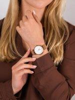 Zegarek różowe złoto klasyczny Rosefield Tribeca TRWSP-X185 bransoleta - duże 5