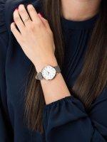 Zegarek różowe złoto klasyczny Rosefield West Village WEGR-W75 pasek - duże 5