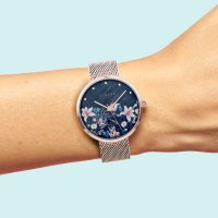 Zegarek różowe złoto klasyczny Strand Flower S700LXVBMV-DF bransoleta - duże 7