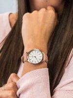 Zegarek różowe złoto klasyczny Timex Metropolitan TW2R85200 pasek - duże 5
