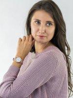 Zegarek różowe złoto klasyczny Timex Standard TW2U13500 pasek - duże 4