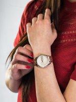Zegarek różowe złoto klasyczny Tommy Hilfiger Damskie 1782082 bransoleta - duże 5