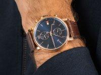 Zegarek różowe złoto klasyczny Tommy Hilfiger Męskie 1710418 pasek - duże 6