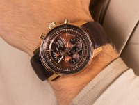 Zegarek różowe złoto klasyczny Vostok Europe Limousine YM86-565B288 pasek - duże 6