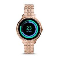 Fossil Smartwatch FTW6073 zegarek różowe złoto sportowy Fossil Q bransoleta