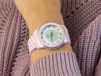 Zegarek różowy klasyczny Bisset Klasyczne BSPD72SIMX03BX bransoleta - duże 6