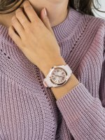 Zegarek różowy klasyczny Michael Kors Bradshaw MK2732 pasek - duże 5