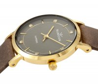 Rubicon RNAD89GIVX03B1 zegarek złoty klasyczny Pasek pasek