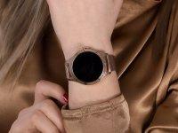 zegarek Rubicon SMARUB046 Smartwatch Rubicon RNBE37 PRO różowe złoto damski z krokomierz Smartwatch