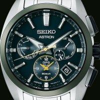 zegarek Seiko SSH071J1 Astron GPS Solar Green Dial Limited Edition męski z gps Astron